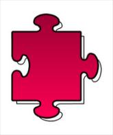 A jigsaw puzzle piece