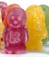 Jelly candy people in several different colors