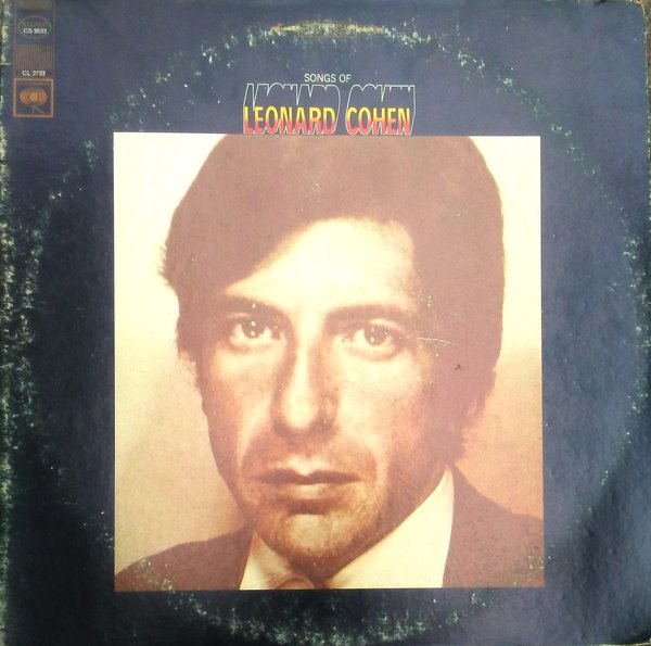 A worn LP jacket of the Songs of Leonard Cohen